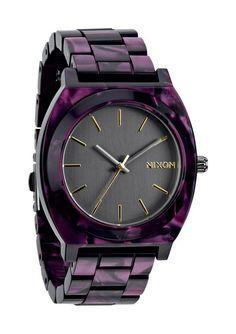 I WANT!!! Nixon // The Time Teller Acetate