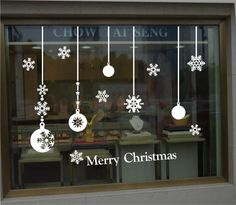 christmas stickers window - Buscar con Google