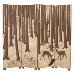 Lacquered Wood and Eggshell Screen by Jean Dunand | From a unique collection of antique and modern screens and room dividers at https://www.1stdibs.com/furniture/more-furniture-collectibles/screens/