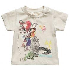 Baby Boys Beige Cotton T-Shirt