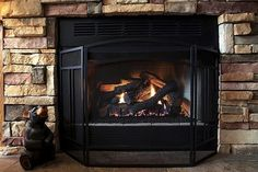 How to clean a rock fireplace.