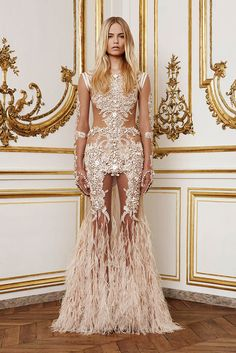 Hey, Babe!  Did you know your fly is open ??  Givenchy Fall 2010 Couture Fashion Show - Natasha Poly (Women)
