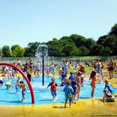 London's Best Fountains & paddling pools, Wimbledon Park paddling pool