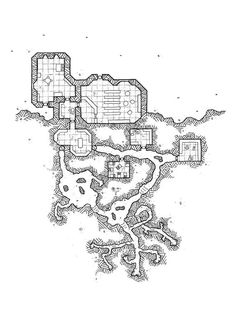 Here is the map of #mapvember challenge Day 9 : #Refinery  Isadril the Sparkling The jeweler master Isadril lives in a small house built on a hillside that hides his precious lode. His home also serves as a shop. Isadril is known throughout the old world for these exceptional jewels, especialy his rare purple gemstones. In reality, Isadril  hired a gnomes team to do all the work. From the mining to the jewelry creation. The Gnomes live hidden in the tunnels dug into the mountain.