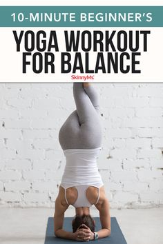 This yoga workout for balance is designed to help those with poor balance. Practice daily until you have mastered these moves. yoga poses for beginners YOGA POSES FOR BEGINNERS | IN.PINTEREST.COM #HEALTH #EDUCRATSWEB