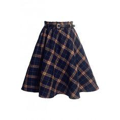 School Girl Tartan Woolen Skirt OASAP.COM (€17) ❤ liked on Polyvore featuring skirts, oasap, wool plaid skirt, tartan wool skirt, tartan plaid skirt, blue plaid skirt and woolen skirt
