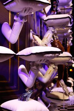 "SAKS FIFTH AVENU, New York presents Cinderella, ""The arm was designed to be princely in its look and feel,SFD made in excess of 1,400 arms and pillows"", pinned by Ton van der Veer"