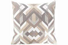 Accent Pillow - Seraphina Grey Woven Geo | Living Spaces (This pillow looks so much prettier in person, just FYI.)
