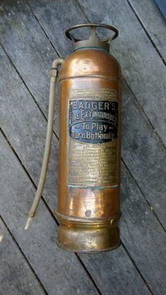 Antique Badgers Water Fire Extinguisher copper от StatusDog