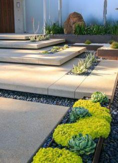 modern garden steps