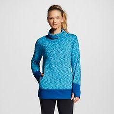 Women's Space Dye Funnel Neck Pullover - RBX - Blue