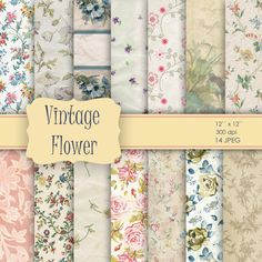 Hey, I found this really awesome Etsy listing at https://www.etsy.com/listing/152311456/14-vintage-flower-shabby-chic-digital