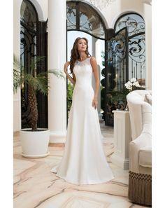Značkové jednoduché svadobné šaty zdobené čipkou Beautiful Outfits, One Shoulder Wedding Dress, Wedding Gowns, Bridal, Fashion Design, Inspiration, Clothes, Bridal Gowns, Boyfriends