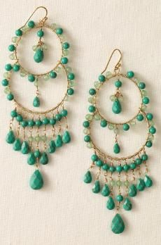 I'm loving turquoise jewelry these days and covet these little darlings.