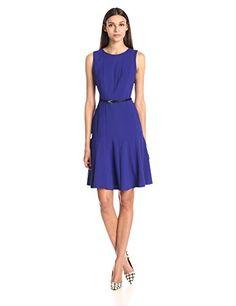 Calvin Klein Women's Sleeveless Belted Flare Dress, Bynzantine, 2 Calvin Klein http://www.amazon.com/dp/B00IG39KZE/ref=cm_sw_r_pi_dp_JiI6ub0ZQ5YSS