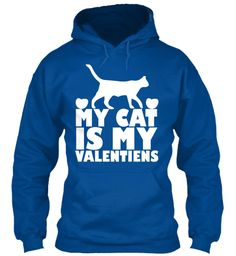Limited Edition My Cats Valentines Royal Sweatshirt Front