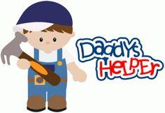 Silhouette Online Store - View Design #43036: daddys helper boy with hammer construction