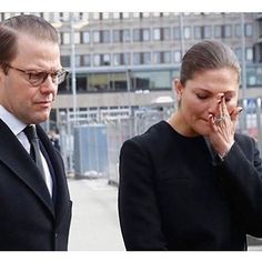 swedish_royal_family Victoria and Daniel today #stopterrorism #stopterror #terror #prayforsweden #prayforstockholm #sweden #sverige #kronprinsessanvictoria