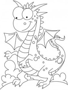 Comparatively a kind looking dragon coloring pages Make your world more colorful with free printable coloring pages from italks. Our free coloring pages for adults and kids. Coloring Book Pages, Printable Coloring Pages, Animal Templates, Templates Free, Lilo E Stitch, Dragon Coloring Page, Cute Dragons, Digi Stamps, Coloring Pages For Kids