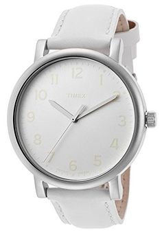 Timex T2N345 43mm Stainless Steel Case Leather Mineral Women's Watch >>> Click image for more details.