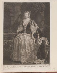 Ryley, Thomas (fl.1744-55)  Her Most Excellent Majesty Queen CAROLINE  c.1735-55 Mezzotint | RCIN 603938