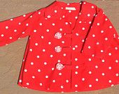 Red spotty coat
