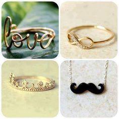Bagues préférées Love et infinité