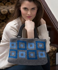 Urban Squares Purse Free Crochet Pattern from Red Heart Yarns
