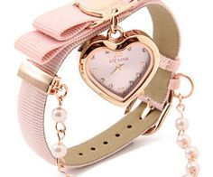 Heart watch in pink! Cute Jewelry, Jewelry Accessories, Fashion Accessories, Fashion Jewelry, Pink Love, Pretty In Pink, Ring Armband, Trendy Watches, Stylish Watches For Girls