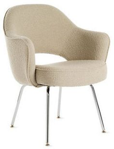 Saarinen Executive Armchair with Metal Legs in Fabric Design Within Reach