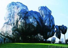 Christo und Jeanne-Claude - Wrapped Trees Nr. 14 (Riehen)