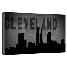 ArtWall Art Sandcraft \'Cleveland\' Gallery-Wrapped Canvas | Overstock.com Shopping - The Best Deals on Canvas