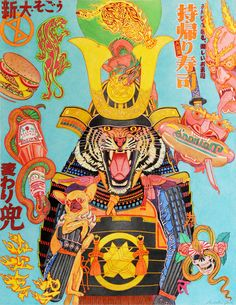 Samurai fiero con su chihuahua harto de la comida basura