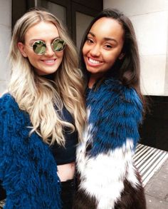 Perrie Edwards and Leigh-Anne Pinnock lerrie Leigh Little Mix, Female Friendship, Jesy Nelson, Perrie Edwards, Only Girl, Spice Girls, Girl Bands, Fashion Outfits, Fashionable Outfits