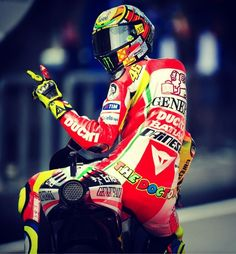 MotoGP rider Valentino Rossi during the Ducati years.