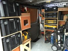 Renault Trafic Sport van racking for woodwork. By www.harrisonwoodwork.com