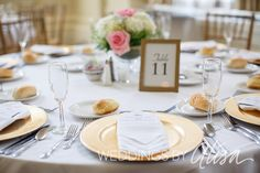 White, gold, pink wedding reception details   Pittsburgh Wedding Photographers - Weddings by Alisa