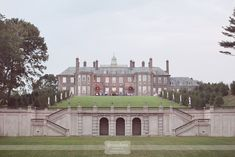 Crane Estate Outdoor Wedding Photography – Ipswich, MA – love this overall shot of the Great House.