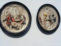2 db antik kastély dísz, 44 cm átmérő.Múzeumi darabok.