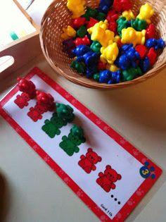 My Montessori Preschool - we love sorting bears!