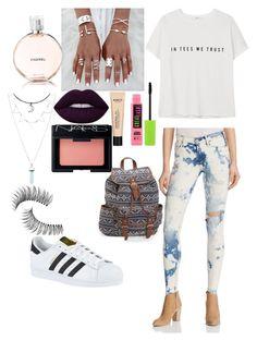 """School"" by jelena-hadzimusovic on Polyvore featuring moda, McGuire, Chanel, Lime Crime, MANGO, NARS Cosmetics, Trish McEvoy, Maybelline, Aéropostale i adidas"