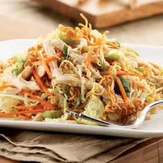 Chinese Chicken & Noodle Salad    dressing is an addictive orange, sesame, ginger