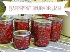raspberry rhubarb jam- Yellow Birch Hobby Farm
