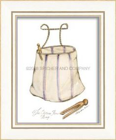 """Add a little whimsy to your laundry/work room. Hang an assortment from this collection to create fun, visual appeal. This framed print measures 8 1/2"""" x 10 1/4"""".  Product in photo is from www.wellappointedhouse.com"""