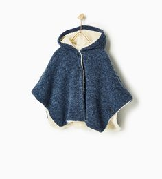 CAPE WITH FLEECY INTERIOR-SWEATERS AND CARDIGANS-GIRL | 4-14 years-KIDS | ZARA United States