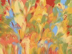 Golden Summer abstract painting Cassandra Tondro