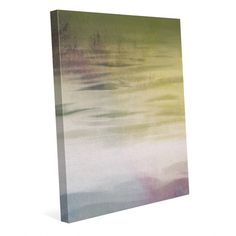 """Click Wall Art Olive Shore Painting Print on Wrapped Canvas Size: 20"""" H x 16"""" W x 1.5"""" D"""