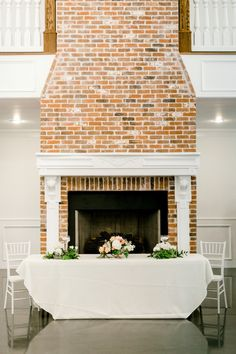 | wedding venue fireplace idea | place your sweetheart table in front of the fireplace instead of decorating the mantle! | wedding reception decor ideas | wedding decoration ideas | wedding decoration ideas for the fireplace at a summer // spring wedding reception | photo taken at THE SPRINGS Event Venue. follow this pin to our website for more information, or to book your free tour! SPRINGS location: Parker Manor in Weatherford, TX photographer: Emily Nicole Photo #weddingdecor…