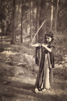 Medieval young archer