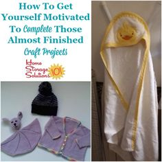 How To Declutter Unfinished Craft Projects How to get yourself motivated to complete those almost finished craft projects {on Home Storage Solutions Craft Storage Containers, Craft Storage Solutions, Craft Storage Furniture, Craft Room Storage, Clutter Control, Family Organizer, Crafty Craft, Getting Organized, Craft Supplies